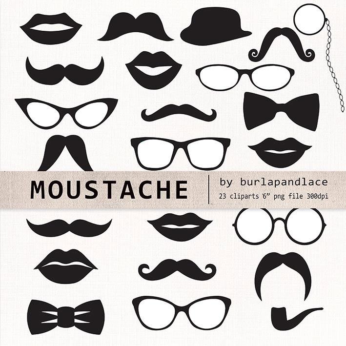 709x709 Mustache Cliparts Retro Party Mustache Clip Art Photo Booth
