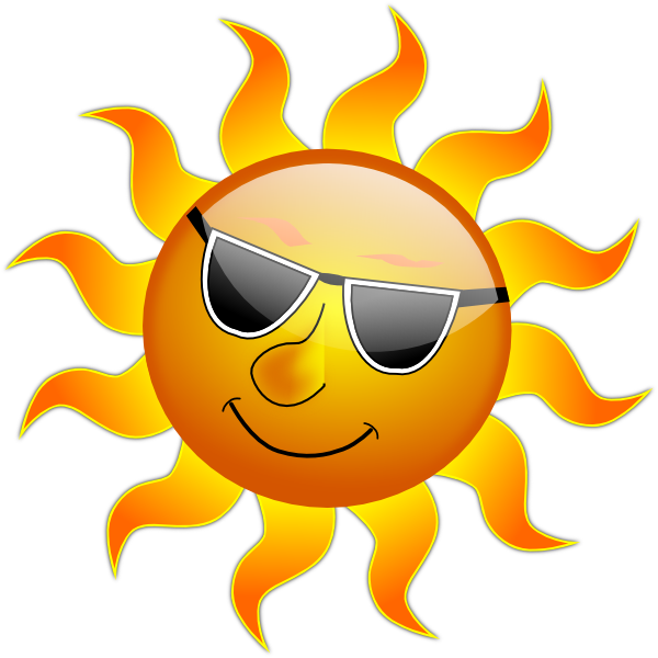 600x600 Sunshine Vector Clipart