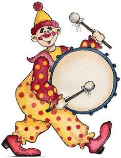 236x309 Circus Clowns Jesters Vintage Clip Art Scrap Digital Collage Sheet