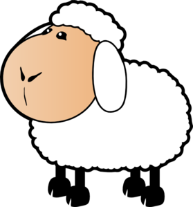 279x299 Sheep With A Beige Face Clip Art