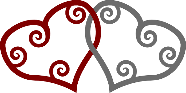 594x299 Red Silver Maori Hearts Interlinked Clip Art Free Vector 4vector