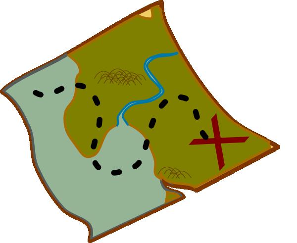 600x491 Clip Art Treasure Map Clipart Panda
