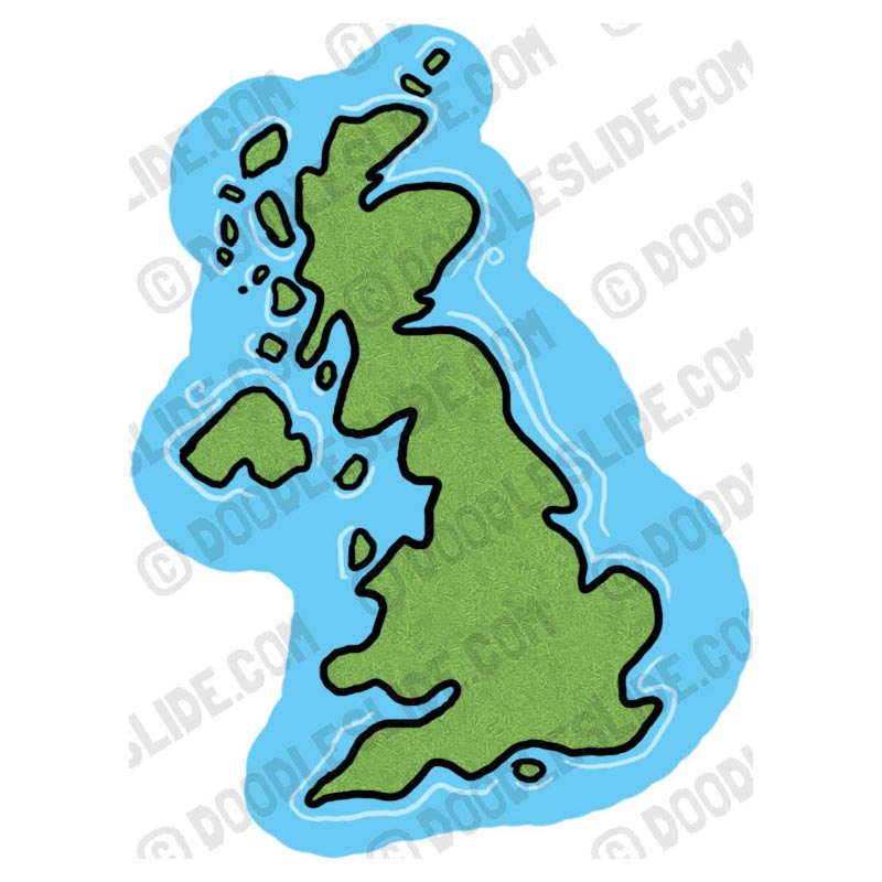800x800 Clipart Map Of Great Britain