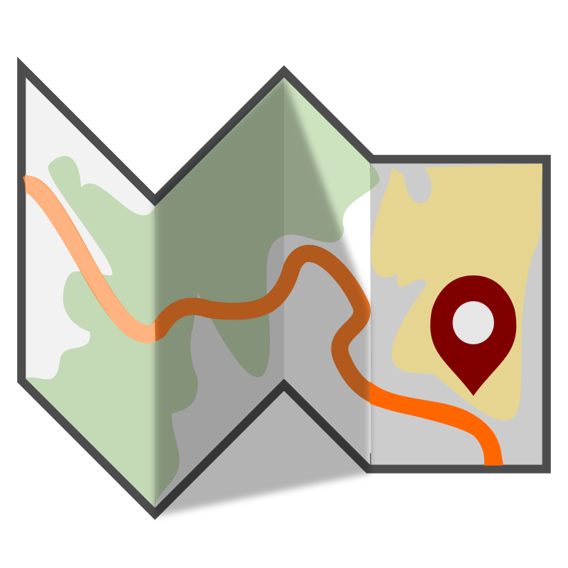 800x800 Free Folded Travel Map Clip Art Map It Clip Art