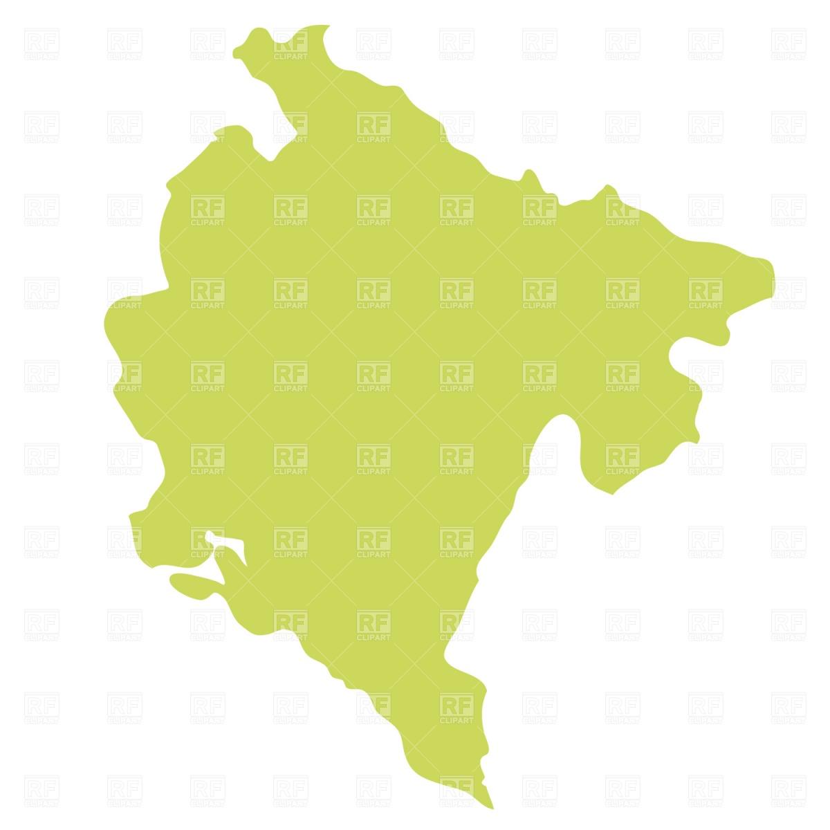 1200x1200 Montenegro Map Royalty Free Vector Clip Art Image
