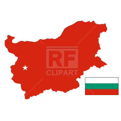 400x400 Bulgaria Map And Flag Royalty Free Vector Clip Art Image