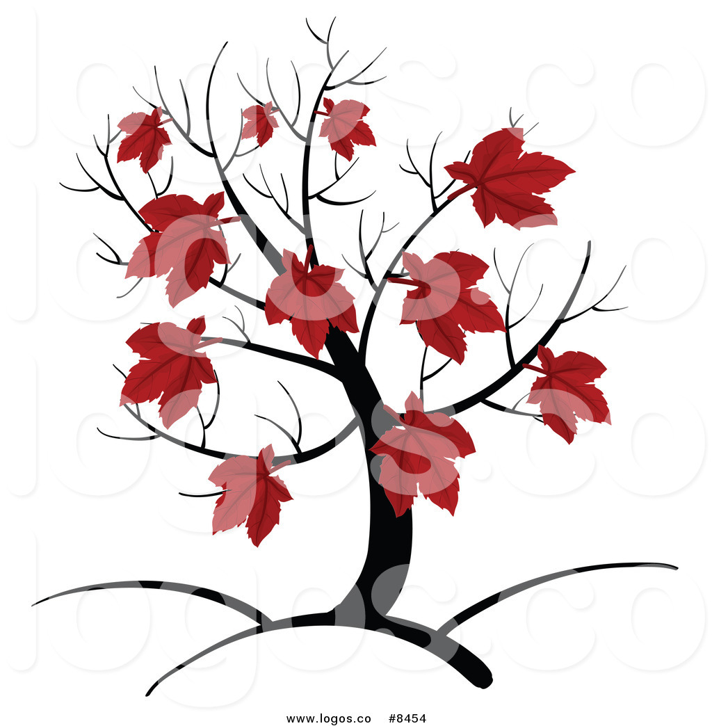 1024x1044 Royalty Free Clip Art Vector Logo Of An Autumn Maple Tree With Red