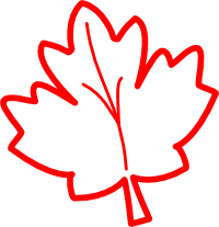 200x207 Maple Leaf Outline Clip Art