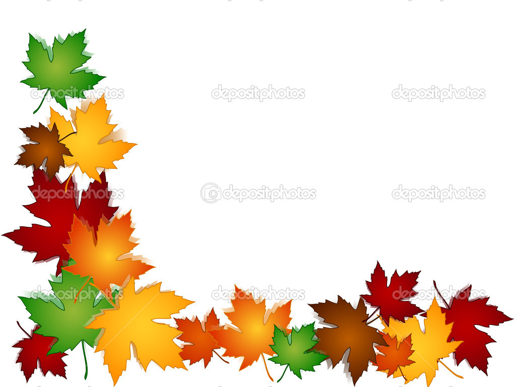 1024x768 Maple Leaf Border Clip Art Clipart
