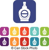 192x194 Vector Color Flat Maple Syrup Bottle Template. Eps10 Vector