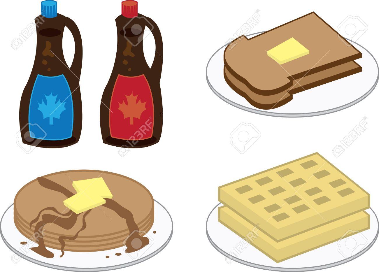 1300x933 Waffle Clipart Pancake