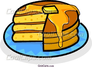 300x219 Stack Of Pancakes With Maple Vector Clip Art