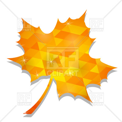 400x400 Polygonal Yellow Maple Leaf Royalty Free Vector Clip Art Image