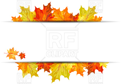 400x280 Autumn Maple Leaves Background Royalty Free Vector Clip Art Image