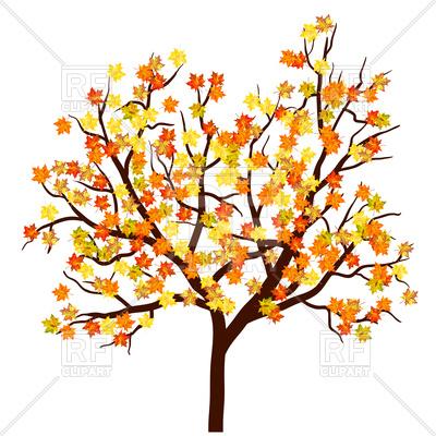 400x400 Autumn Maple Tree Royalty Free Vector Clip Art Image