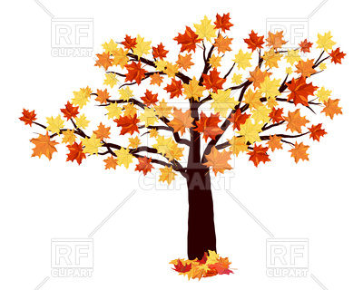 400x320 Autumn Maple Tree Royalty Free Vector Clip Art Image