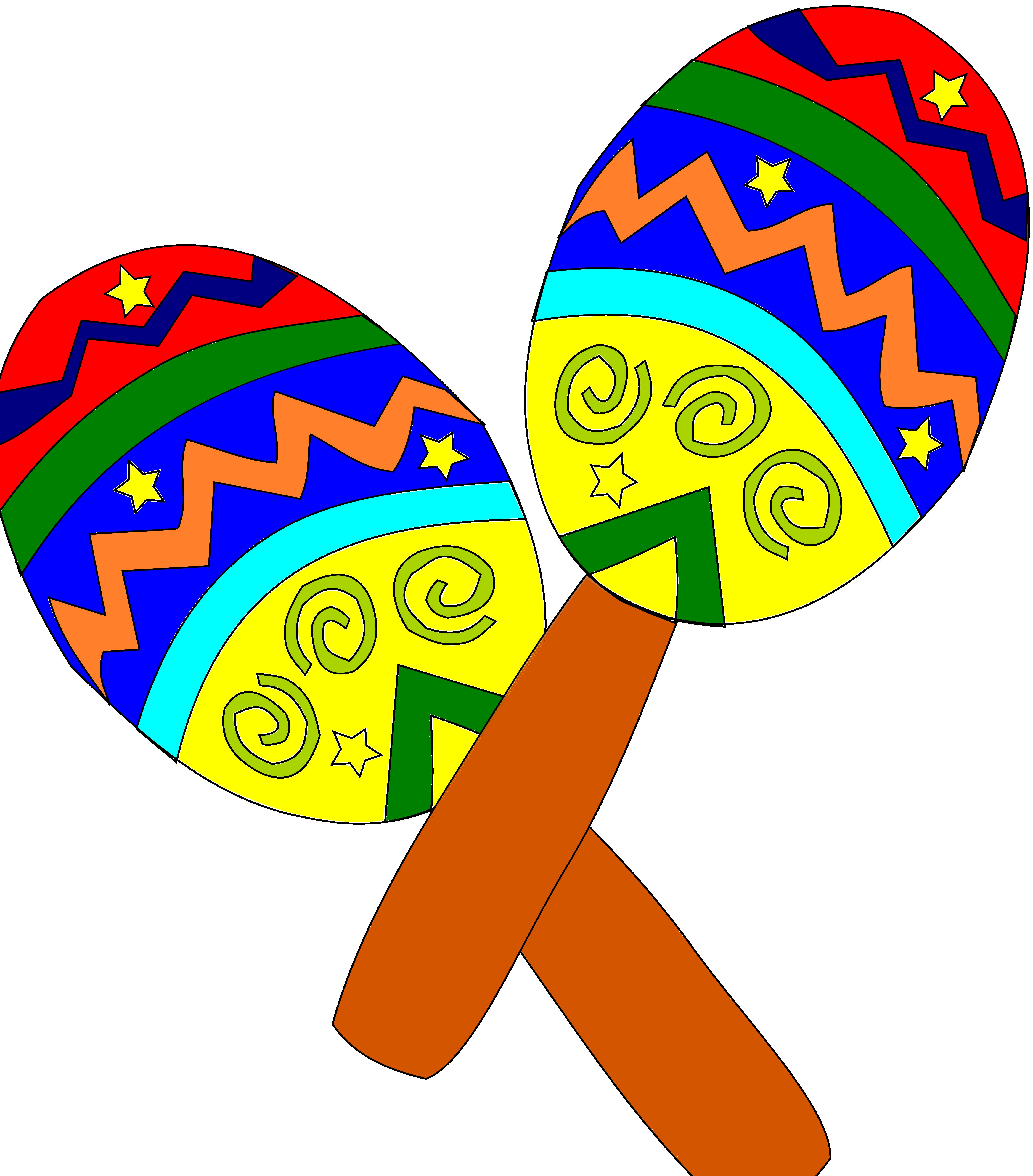 5555x6323 Sombrero And Maracas Free Download Clip Art Free Clip Art
