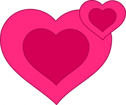 425x354 Free Download Of Two Pink Hearts Together Clip Art Vector Graphic