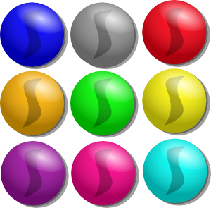 300x295 Game Marbles Dots Clip Art