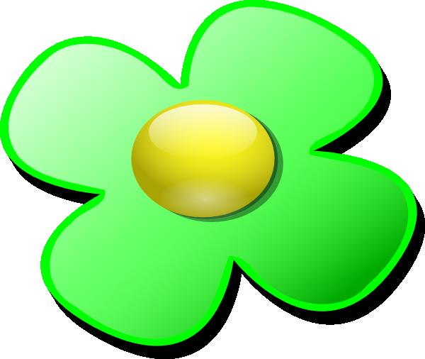 600x506 Green Game Marble Flower Clip Art