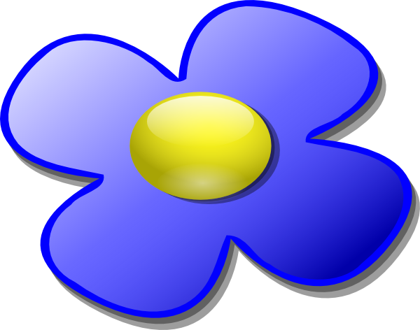 600x472 Blue Game Marble Flower Clip Art