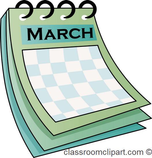 528x550 March Calendar Clipart