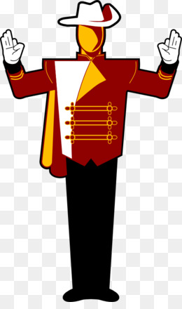 260x440 Drum Major Marching Band Clip Art