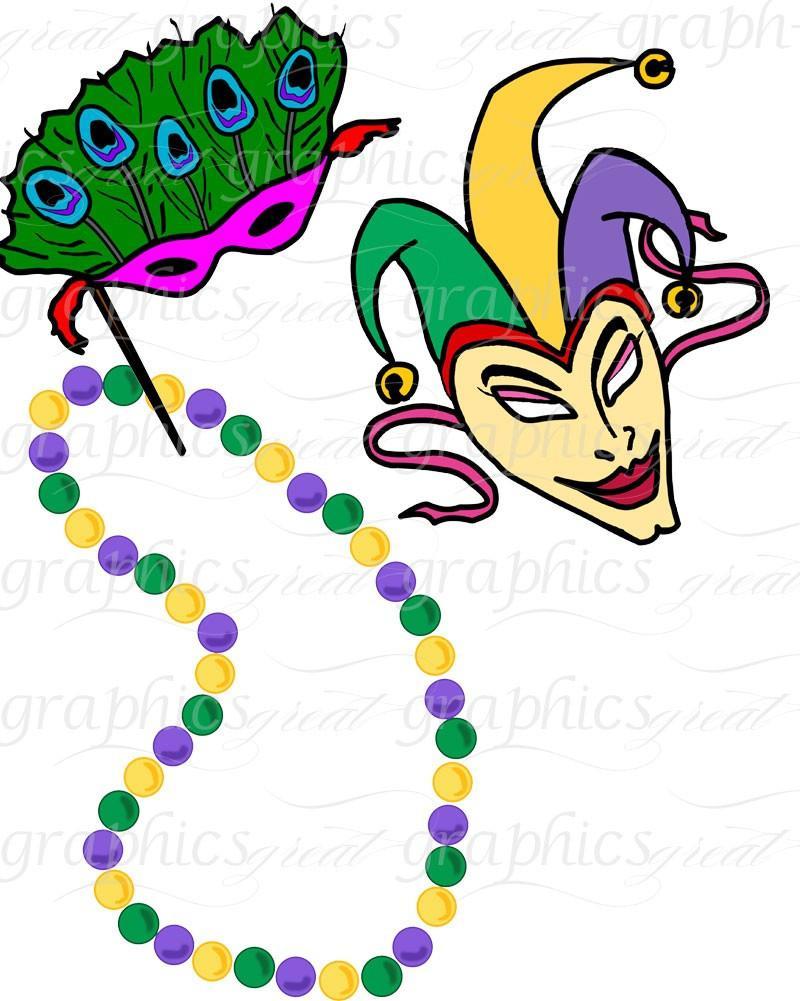 800x1001 Mardi Gras Clip Art, Mardi Gras Clipart, Digital Clip Art, Mardi