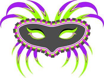 350x262 Luxury Mardi Gras Mask Clip