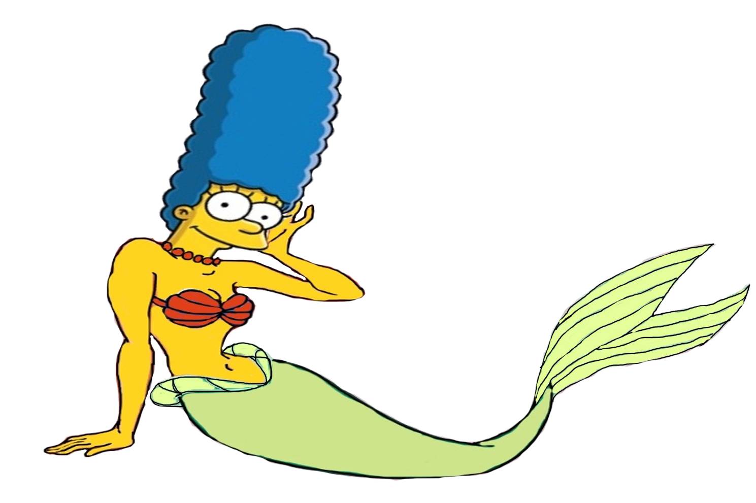 1489x991 Marge Simpson As A Mermaid By Darthranner83