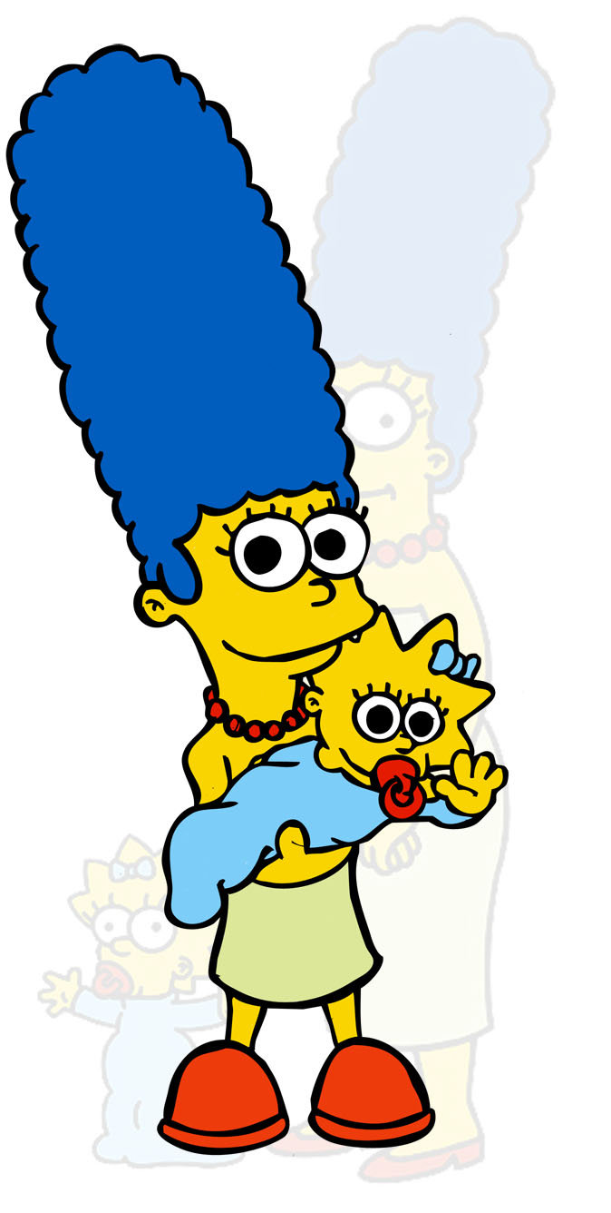 674x1336 Marge Y Maggie Simpson By Elgucci