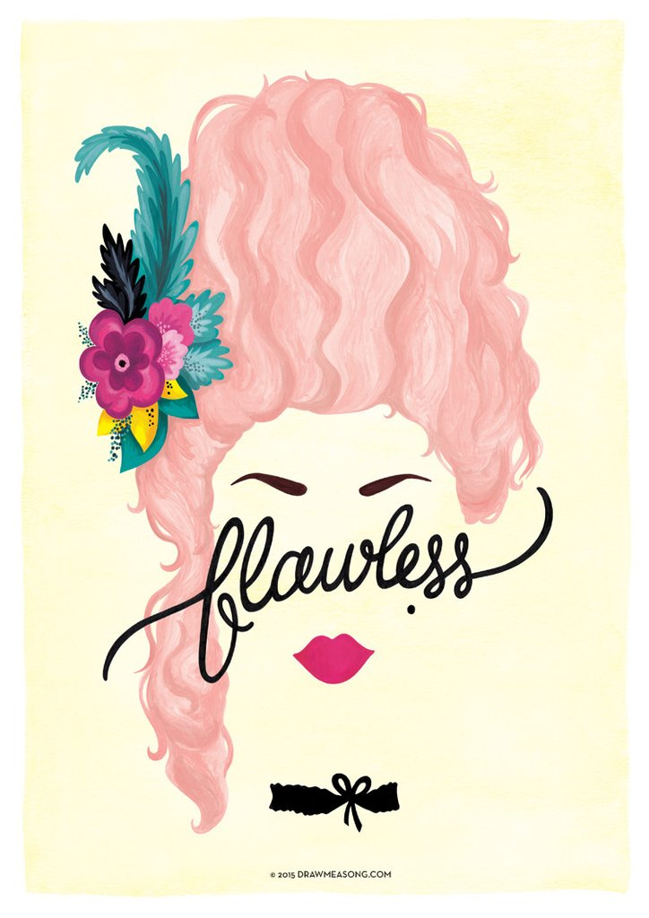 724x1024 Flawless Marie Antoinette Art Print By Draw Me A Song Music Poster