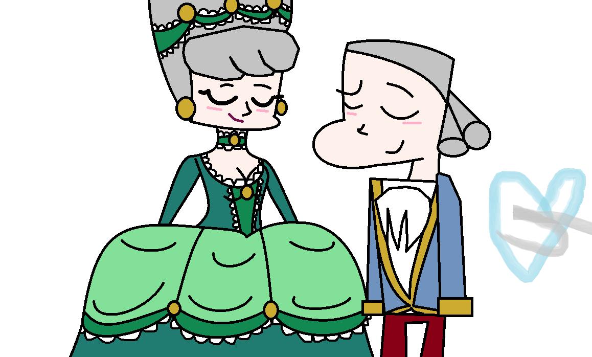 1158x698 Louis Xvi And Marie Antoinette Of Versallies Original Art