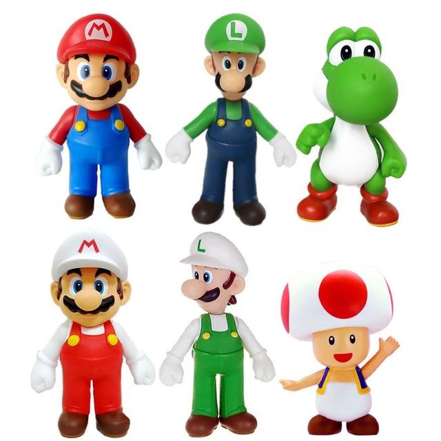 640x640 6x Super Mario Super Size Figure Collection Mario Luigi Yoshi Toad