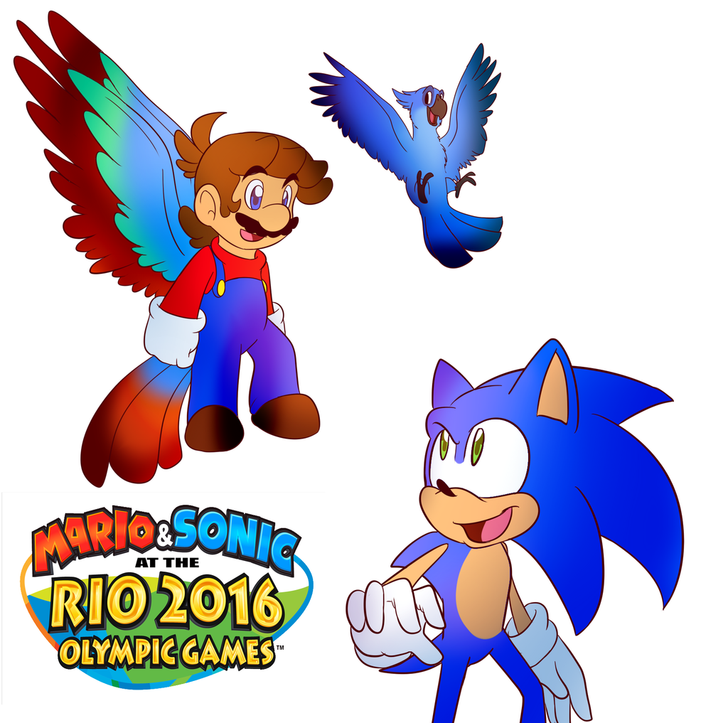 1024x1017 Mario And Sonic 2016 By Baconbloodfire