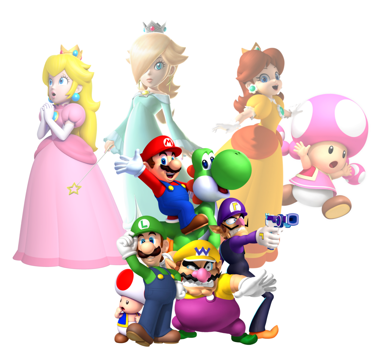 1280x1182 Super Mario Characters 2013 By Legend Tony980