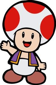198x300 Toad Mario Clipart