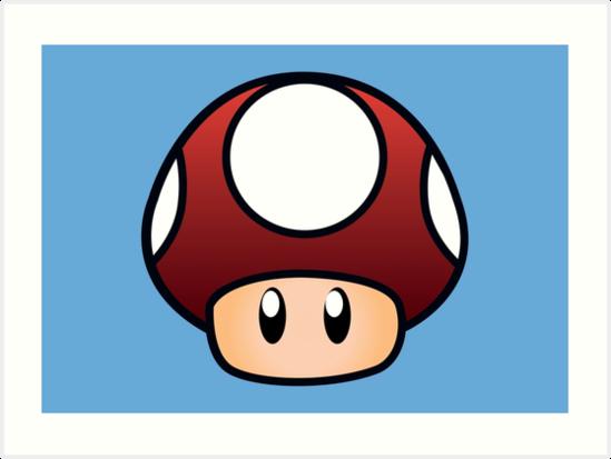 549x413 Super Mario Mushroom Art Prints By Lauramazing Redbubble