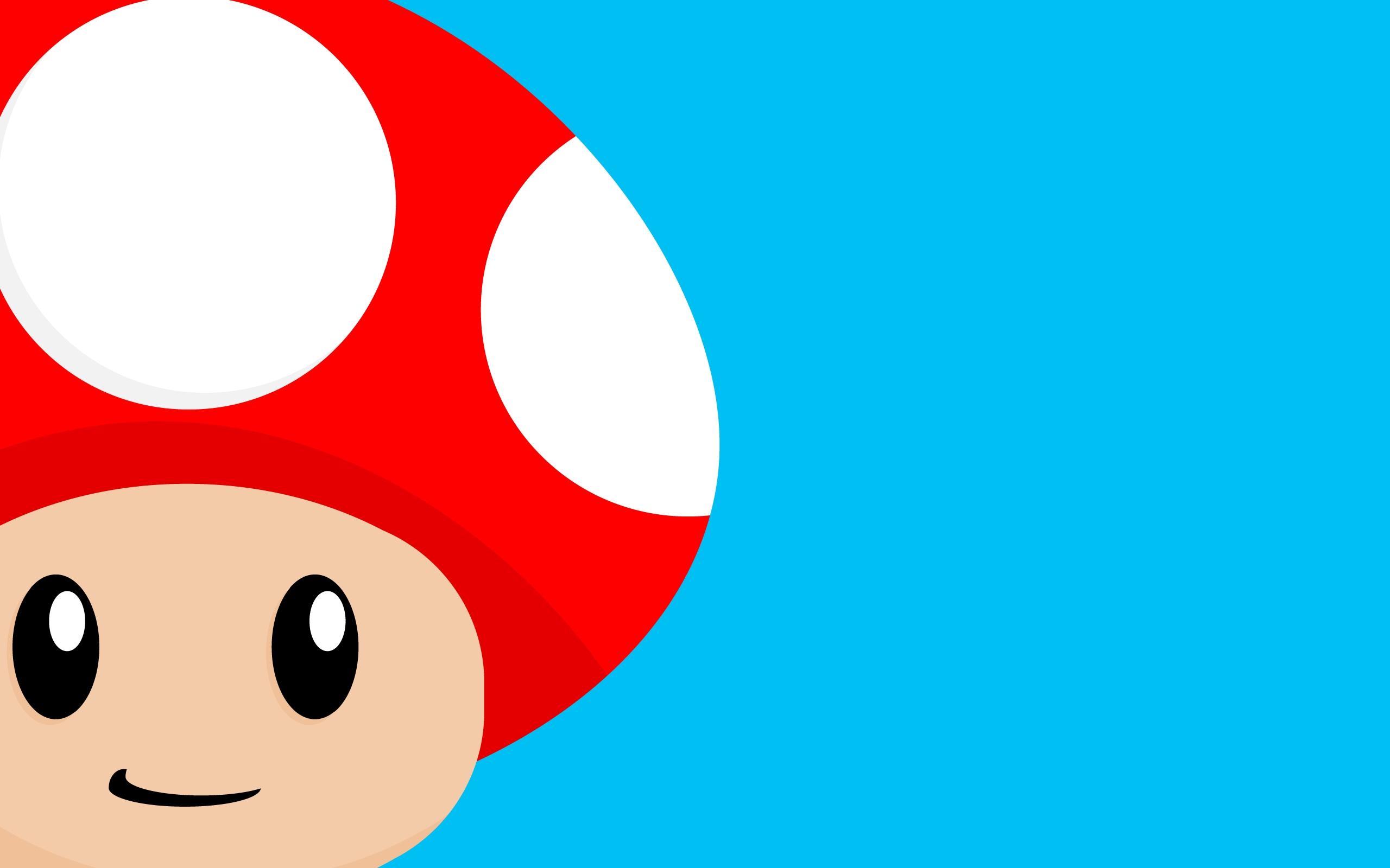 2560x1600 Wallpaper Illustration, Mushroom, Cartoon, Smiley, Nose, Vector