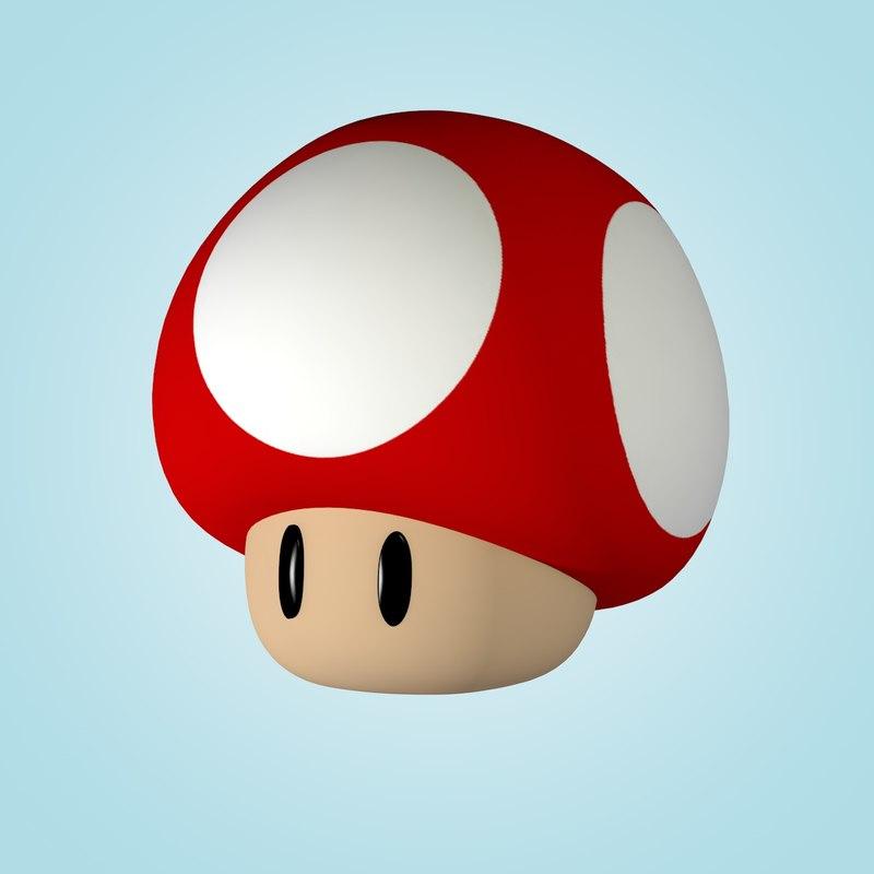 800x800 Super Mario Mushroom 3d C4d