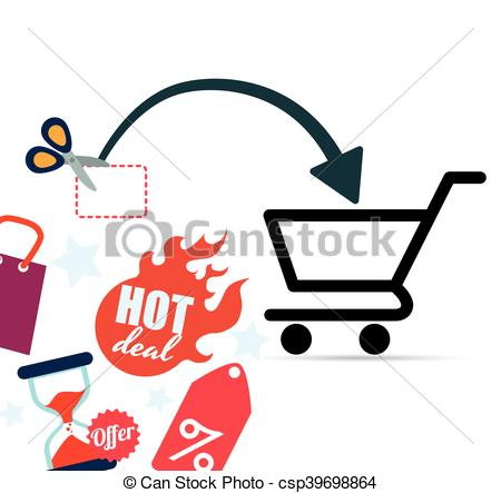 450x443 Shopping Market Shop Store Icon Set. Shopping Cart Scissor Clip