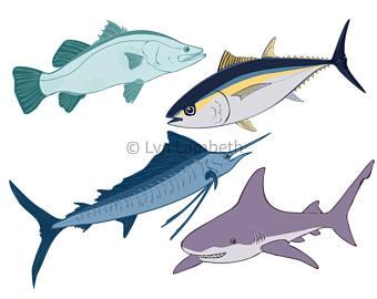 340x270 Fish Clipart Etsy