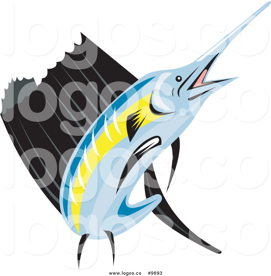 1024x1044 Royalty Free Clip Art Vector Retro Sailfish Logo By Patrimonio