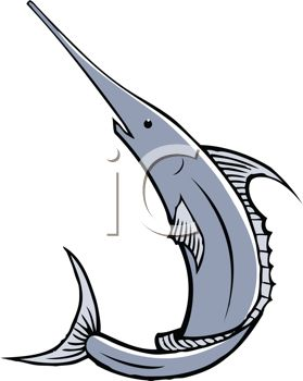 279x350 Warm Swordfish Clipart Royalty Free Image Black And White Jumping
