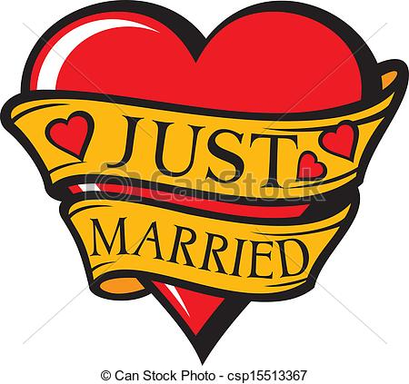 450x423 Just Married Sign Vector Clipart Royalty Free. 3,634 Just Married