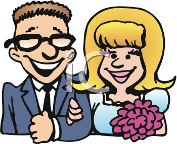 350x286 Cartoon Clip Art Of A Young Man And Woman Going To Get Married