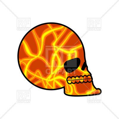 400x400 Skull Texture Mars Royalty Free Vector Clip Art Image