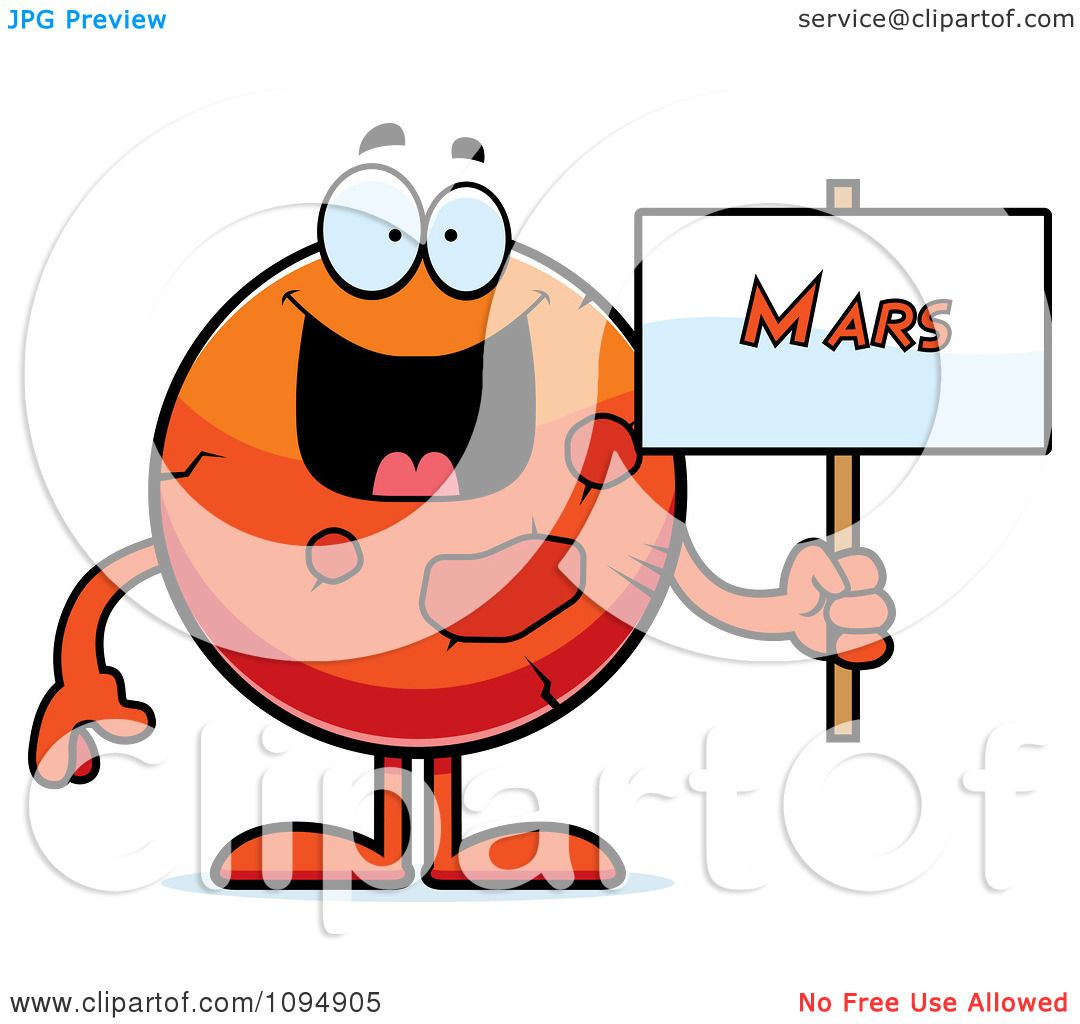1080x1024 Clipart Planet Mars Holding A Sign