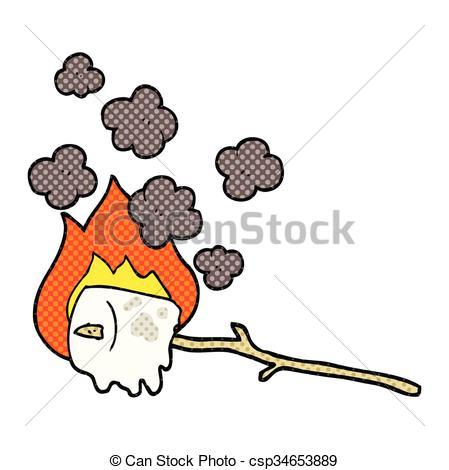 449x470 Freehand Drawn Cartoon Burning Marshmallow Vector