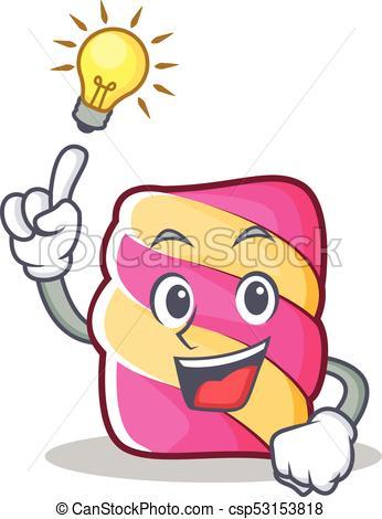 346x470 Have An Idea Marshmallow Character Cartoon Style Vector Vector